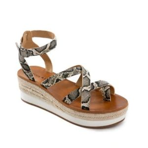 Lucky Brand LP-Jeneka Latte Dream Snake Sandals 8